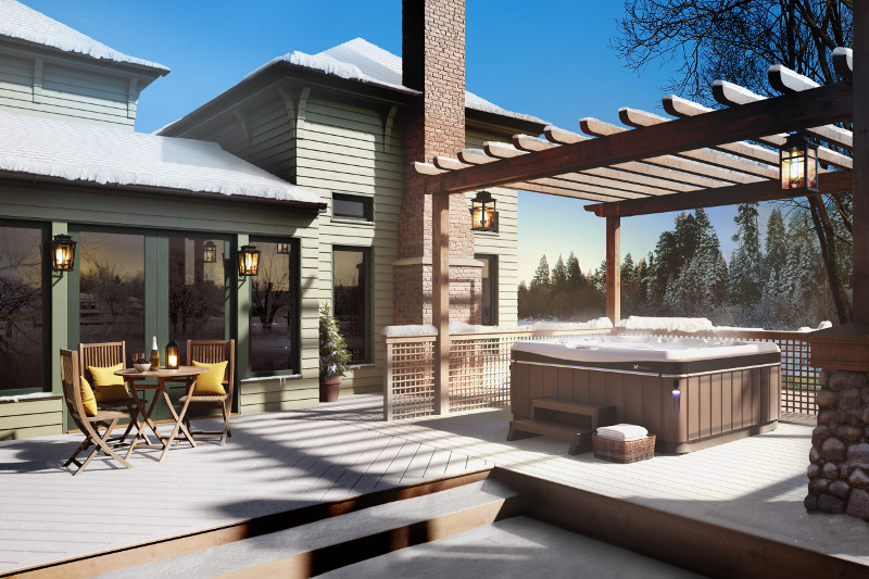 On cold winter days, your hot tub helps you say goodbye to stress.